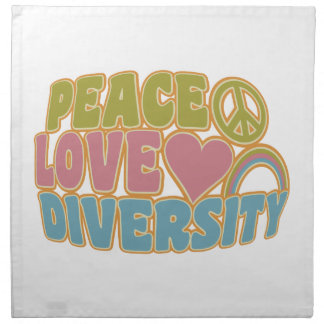 PEACE LOVE DIVERSITY cloth napkins