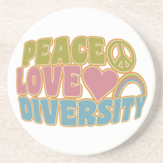 PEACE LOVE DIVERSITY coaster