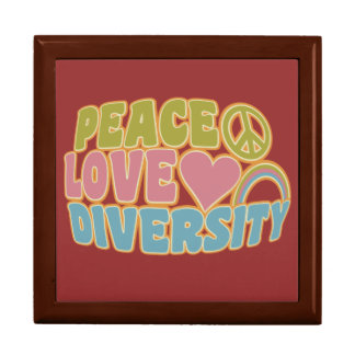 PEACE LOVE DIVERSITY gift / jewelry box