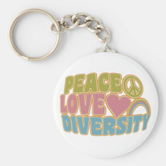 PEACE LOVE DIVERSITY key chain