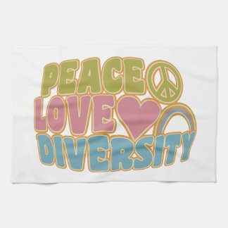 PEACE LOVE DIVERSITY kitchen towels