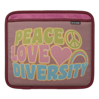 PEACE LOVE DIVERSITY laptop / iPad sleeve