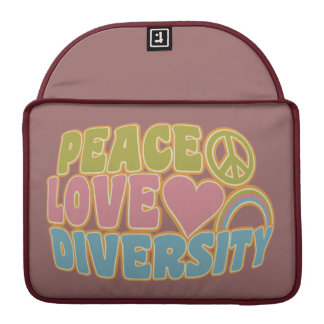 PEACE LOVE DIVERSITY MacBook sleeve