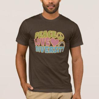 PEACE LOVE DIVERSITY shirt – choose style & color