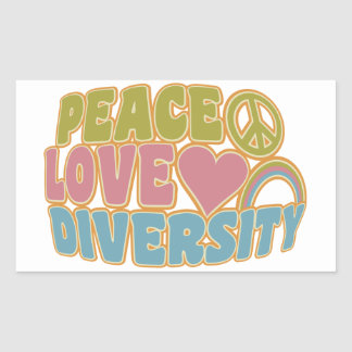 PEACE LOVE DIVERSITY stickers