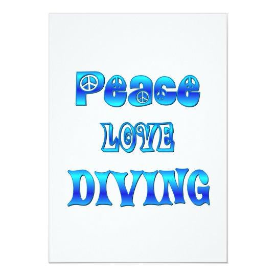 Peace Love Diving 13 Cm X 18 Cm Invitation Card