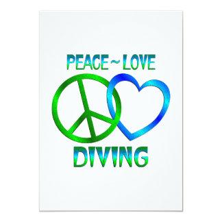 Peace Love DIVING Custom Invites