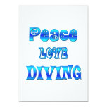 Peace Love Diving Personalized Invites