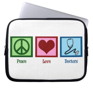 Peace Love Doctors Laptop Sleeve