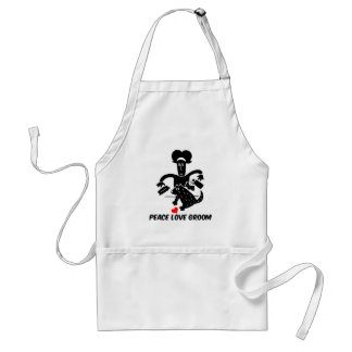 Peace love dog grooming adult apron