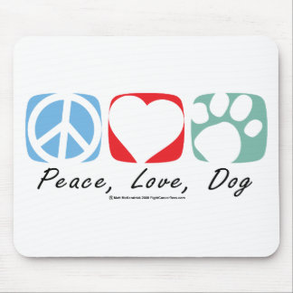 Peace Love Dog Mouse Pad