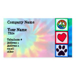 Peace, Love, Dog; Pawprint Pack Of Standard Business Cards