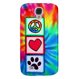 Peace, Love, Dog; Pawprint Galaxy S4 Case