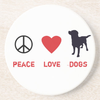 Peace Love Dogs Coaster
