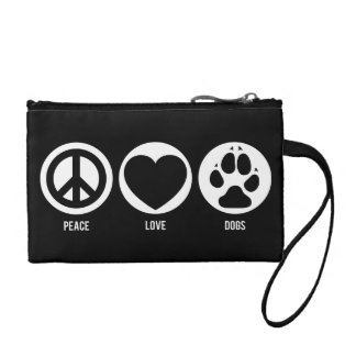 Peace Love Dogs Coin Purse