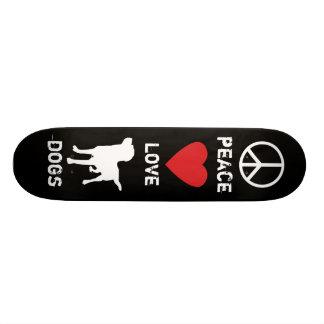 Peace Love Dogs Custom Skateboard