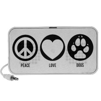 Peace Love Dogs Doodle Mp3 Speakers