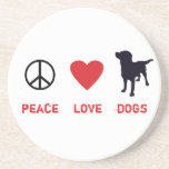 Peace Love Dogs Drink Coasters