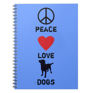 Peace Love Dogs Notebooks