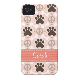 Peace Love Dogs Paw Print Blackberry Bold Case Cov
