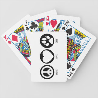 Peace Love Dogs Bicycle Card Decks