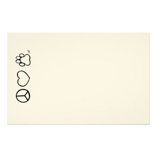Peace, Love, & Dogs Stationery