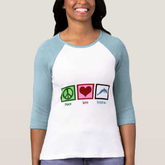 Peace Love Dolphins Tee Shirts