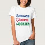 Peace-Love-Doxies- Dachsund Tshirt