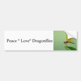 Peace Love Dragonflies Bumper Sticker