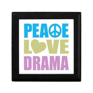 Peace Love Drama Small Square Gift Box