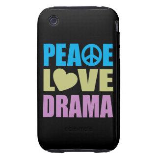 Peace Love Drama Tough iPhone 3 Case