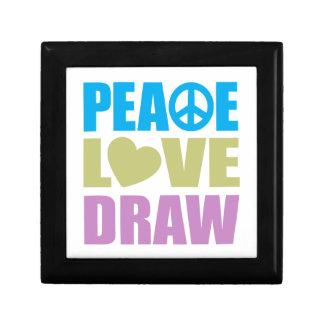 Peace Love Draw Small Square Gift Box