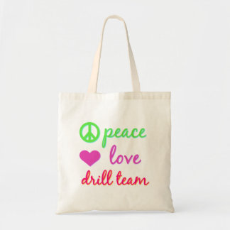 Peace Love Drill Team Budget Tote Bag