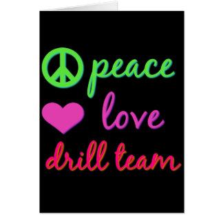 Peace Love Drill Team Card