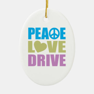 Peace Love Drive Christmas Ornament