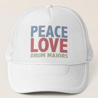 Peace Love Drum Majors Trucker Hat