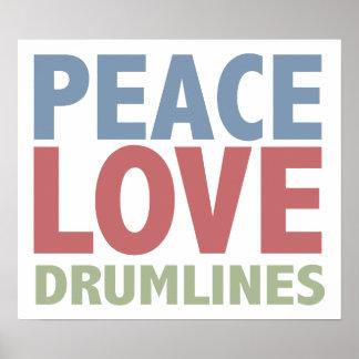 Peace Love Drumlines Print