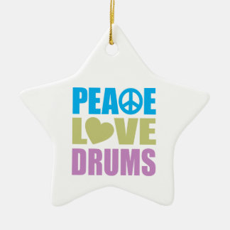 Peace Love Drums Christmas Ornament