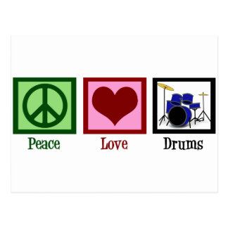 Peace Love Drums Postcard