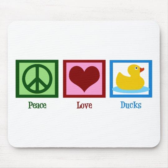 Peace Love Ducks Mouse Mat