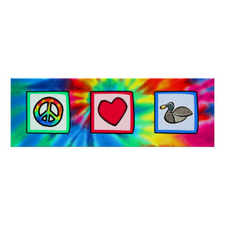 Peace Love Ducks Poster