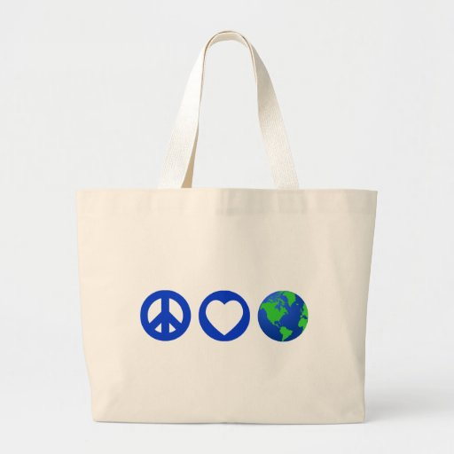 Peace Love Earth Bag