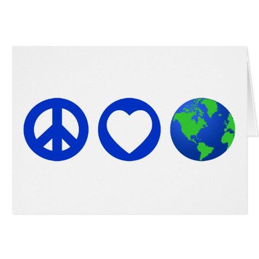 Peace Love Earth Greeting Card