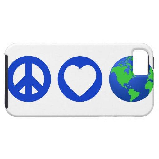 Peace Love Earth iPhone 5 Case