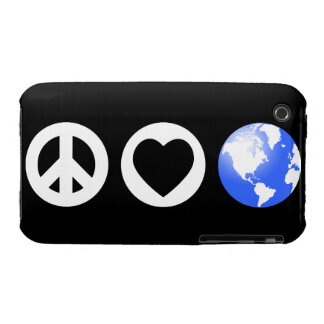 Peace Love Earth iPhone 3 Cover