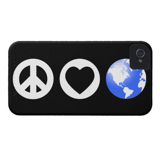Peace Love Earth Case-Mate iPhone 4 Cases