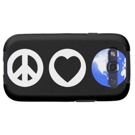 Peace Love Earth Galaxy SIII Covers