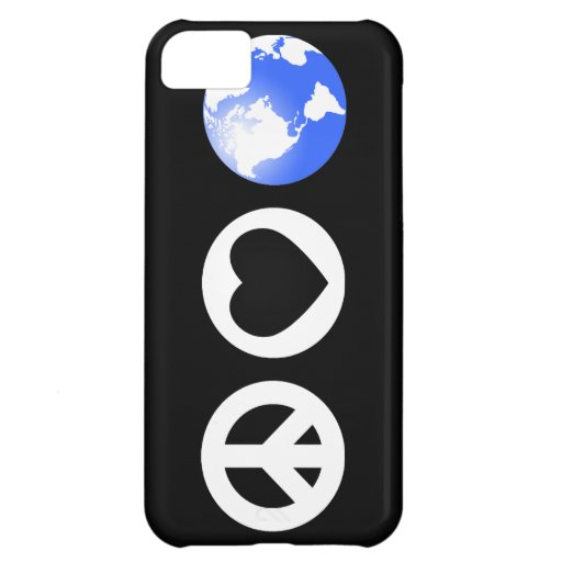 Peace Love Earth iPhone 5C Covers