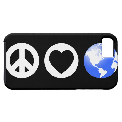 Peace Love Earth iPhone 5 Cases