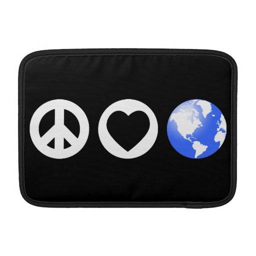 Peace Love Earth MacBook Air Sleeves